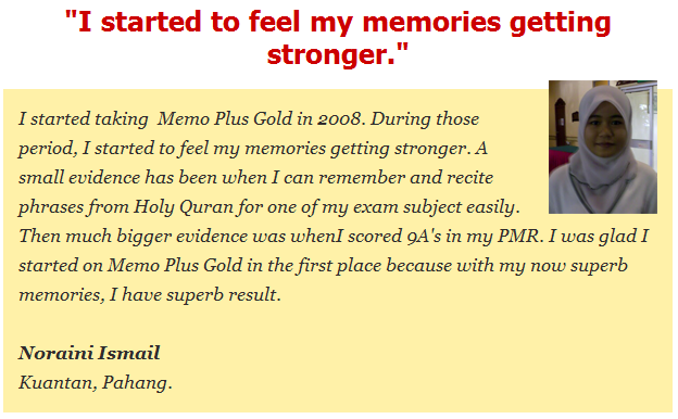 Memo Plus Gold Testimonial
