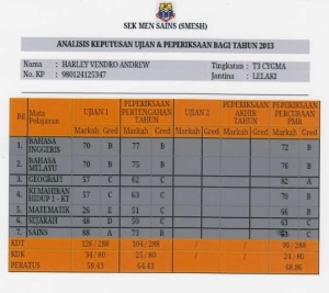 Mid-Year and Trial Exam results
